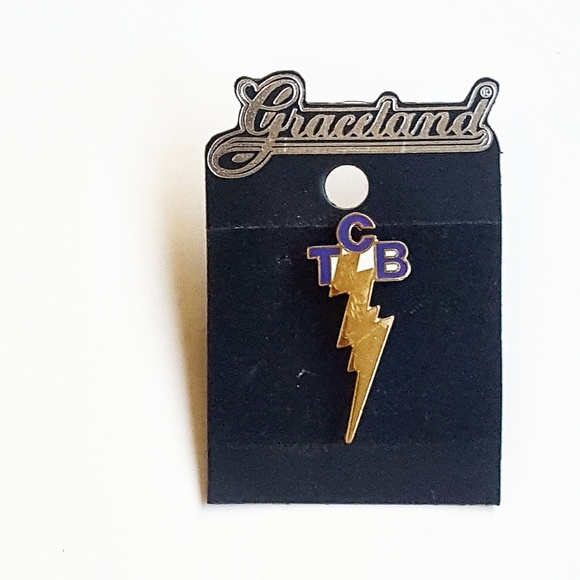 Accessories Graceland Lightning Bolt Pin Official Elvis Merch